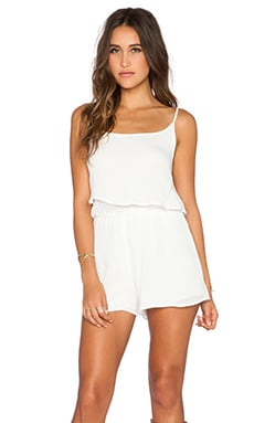 Bishop + Young Gauze Romper in White