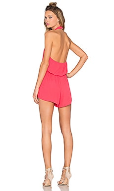 Bishop + Young Halter Romper in Coral