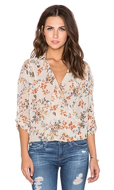 Bishop + Young Abbey Crossover Top in Ivory Print