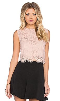 Bishop + Young Everly Lace Crop Top in Blush