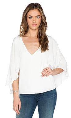 Bishop + Young Butterfly Sleeve Top in Ivory