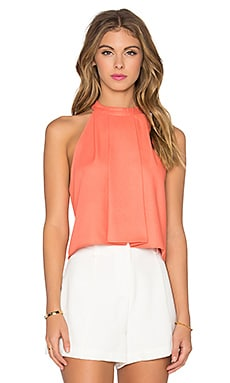 High Neck Crop Tank en Corail