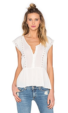 Side Slit Blouse in Ivory