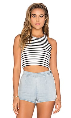 Stripe Knit Crop in Stripe