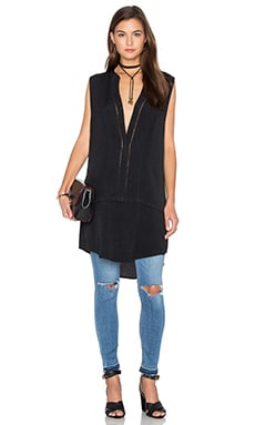 Bishop + Young Embroidered Tunic Tank in Black