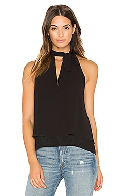 Tie Neck Tank in Black