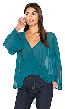 Bell Sleeve Crossover Top