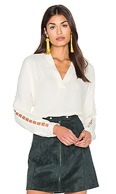 Insert Sleeve Top in Ivory
