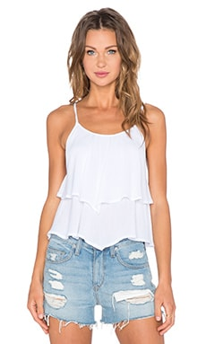 Bishop + Young Tiered Tank in White
