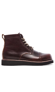 Broken Homme Aaron Perforated Boot in Brown