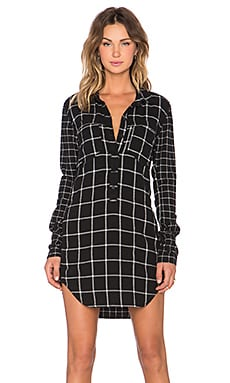 BLANKNYC Plaid Shirtdress in Pill-lates