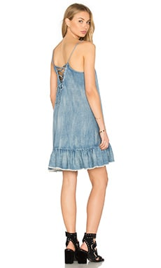 BLANKNYC Lace Up Back Mini Dress in Next in Line