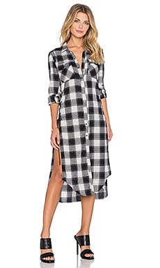 BLANKNYC Plaid Shirtdress in Monogamy Parade