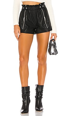 Vegan Leather Side Zipper Short BLANKNYC $98