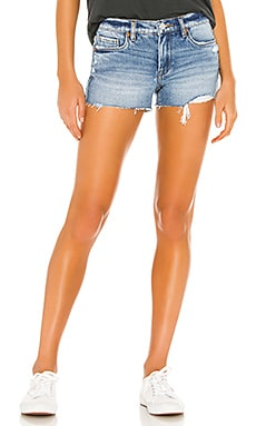 Fulton High Rise Denim Roll Up Short BLANKNYC $78