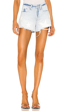 The Barrow Vintage High Rise Denim Short BLANKNYC $98