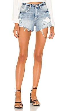 The Barrow Vintage High Rise Denim Short in Stupid BLANKNYC $62