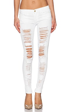 BLANKNYC Distressed Skinny in White Lines