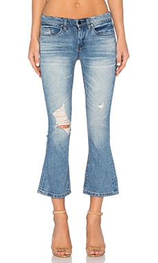 BLANKNYC Distressed Flare Crop in Weekend Warrior