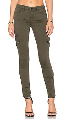 Zip Skinny in Granite Green