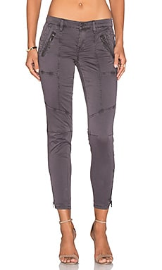 BLANKNYC Zip Skinny in Dark Grey