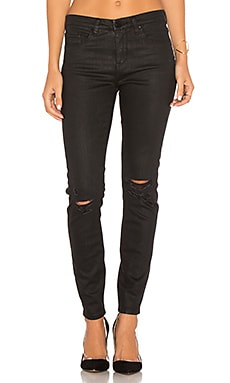 JEAN SKINNY ENDUIT DISTRESSED