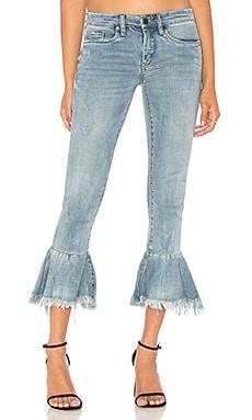 Ruffle Crop Jean
