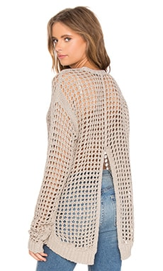 BLANKNYC V Back Sweater in Askhole