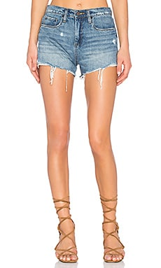 Distressed Short in Ms. Throwback