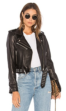 Black Smoke Leather Jacket