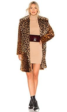 Patchwork Faux Fur Coat BLANKNYC $113