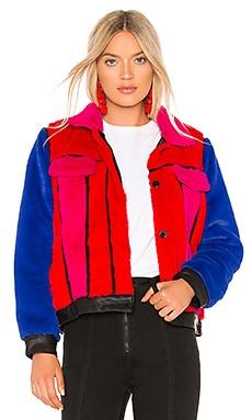 Multi Color Faux Fur Jacket BLANKNYC $188