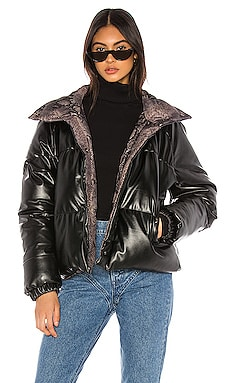 Vegan Leather Reversible Puffer BLANKNYC $88