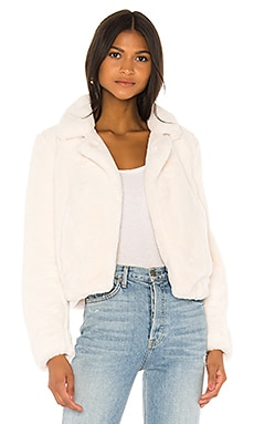 Cream Faux Fur Jacket BLANKNYC $98