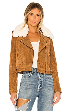 Faux Fur Moto Jacket BLANKNYC $218