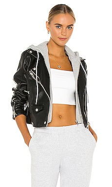 X REVOLVE Twofer Vegan Leather Moto Jacket BLANKNYC $128