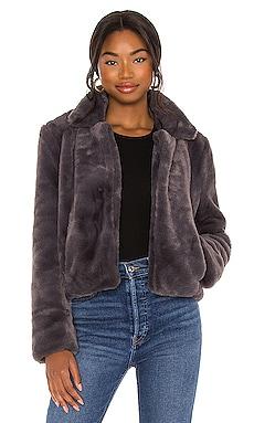 Faux Fur Moto Jacket BLANKNYC $98