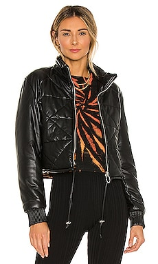 Faux Leather Quilted Puffer Jacket BLANKNYC $98 NEW