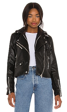Leather With Sequin Hoodie Jacket BLANKNYC $48 (FINAL SALE)