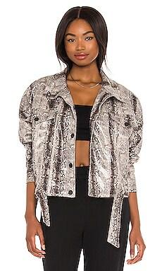 Faux Leather Animal Print Jacket BLANKNYC $32 (FINAL SALE)