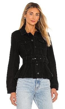 X REVOLVE Belted Denim Jacket BLANKNYC $128