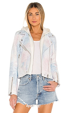 Vegan Leather Tie Dye Moto Jacket BLANKNYC $128