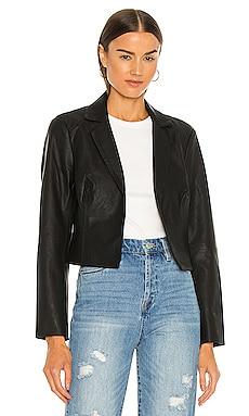 Faux Leather Cropped Blazer BLANKNYC $88