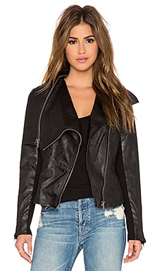 BLANKNYC Moto Jacket in Pre-Party Nerves