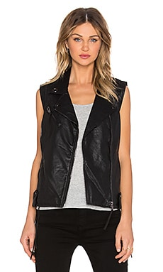 BLANKNYC Fringe Moto Vest in Indian Larry