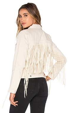Fringe Jacket in Fringe Beige