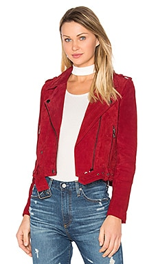 Moto Jacket in Red Moon