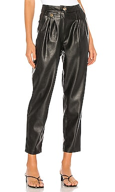 Vegan Leather Pleated Carrot Leg Pant BLANKNYC $98