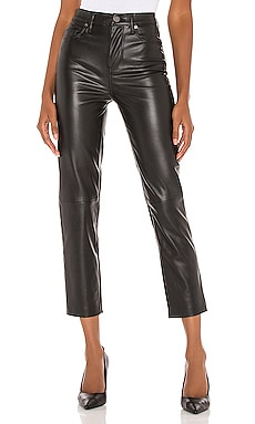 Vegan Leather Straight Leg Pant BLANKNYC $98