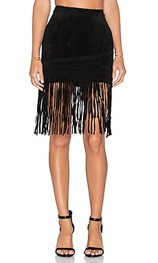 Fringe Mini Skirt in Seal the Deal